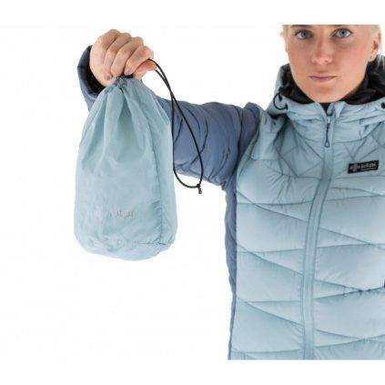 Dámská zimní péřová bunda Kilpi PYRAMIDEN-W Modrá
