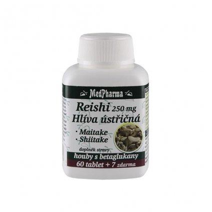medpharma reishi 250 mg hliva ustricna maitake shiitake 67 tablet
