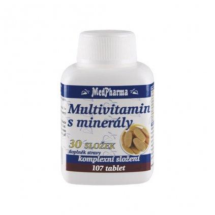 medpharma multivitamin s mineraly 30 slozek 107 tablet