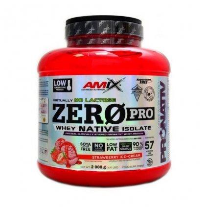 Amix ZeroPro Protein 2000g (Příchuť Jahoda)