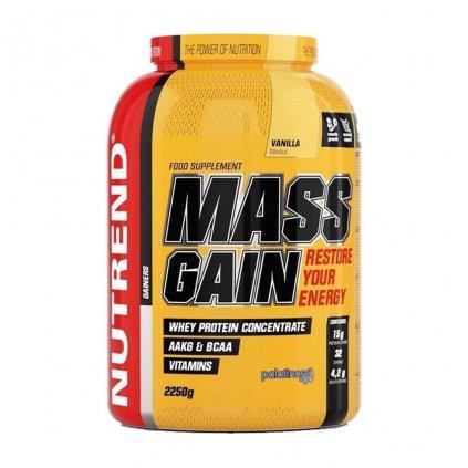 Nutrend Mass Gain 2250g (Gainer na objem) (Příchuť Sušenka)