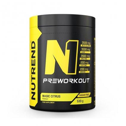 Nutrend N1 Pre-Workout 510 g (Příchuť Černý rybíz)
