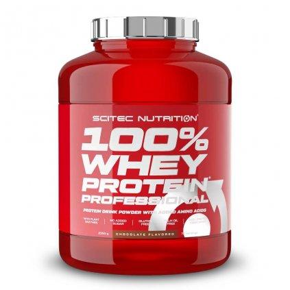 Scitec Nutrition 100% Whey Protein Professional 2350 g (Příchuť Bílá čokoláda/Jahoda)
