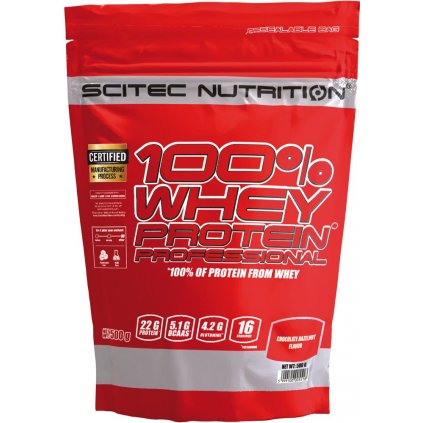 Scitec Nutrition 100% Whey Protein Professional 500 g (Syrovátkový protein) (Příchuť Čokoládová sušenka)