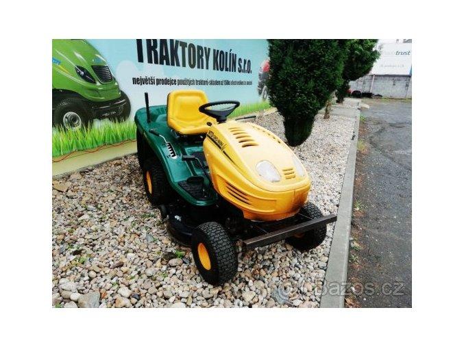 zahradní traktor yardman 18/105 žluto-zelené barvy plachty traktory kolín