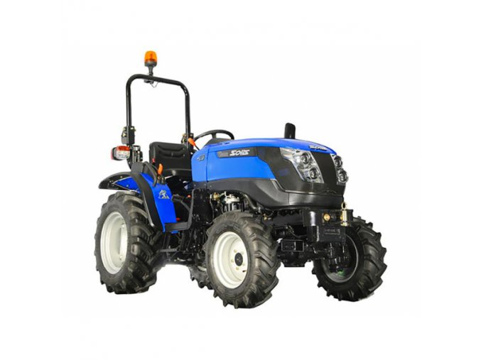 zemědělský traktor solis gt 20 modré barvy
