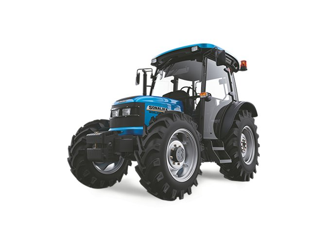 zemědělský traktor solis wt 75 modré barvy s kabinou pro řidiče