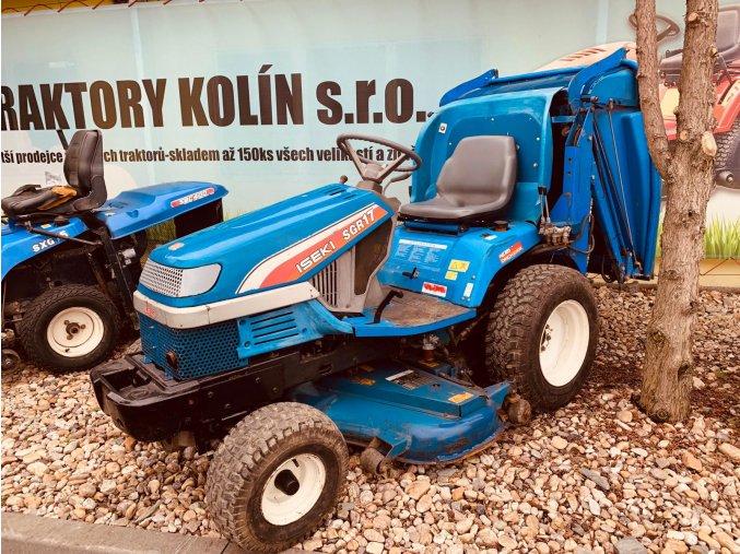 profi zahradní traktor iseki sgr 17 modré barvy u plachty traktory kolín