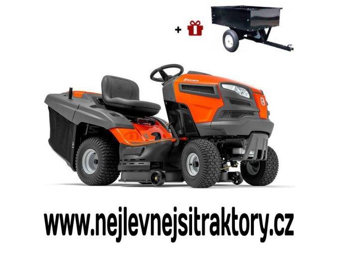 zahradní traktor husqvarna tc 239t oranžovo-černé barvy