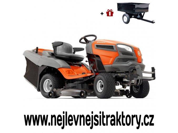 zahradní traktor husqvarna tc 342t oranžovo-černé barvy