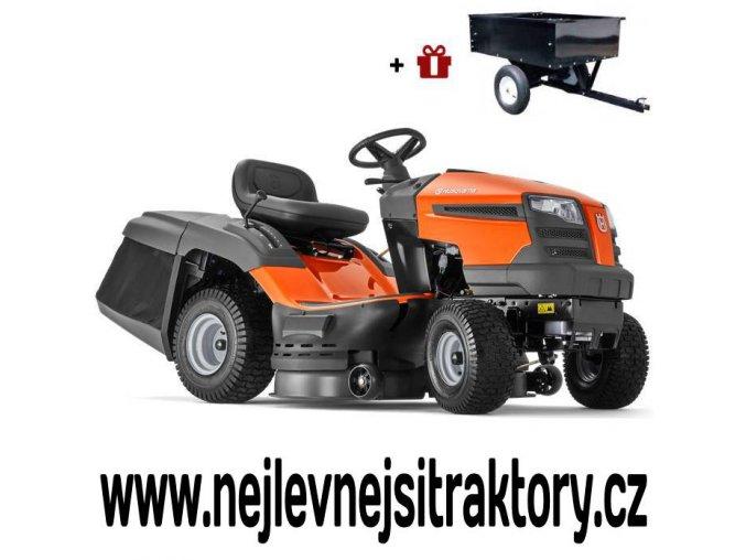 zahradní traktor husqvarna tc 138m oranžovo-černé barvy