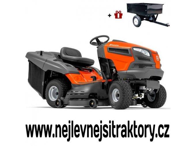 zahradní traktor husqvarna tc 142t oranžovo-černé barvy