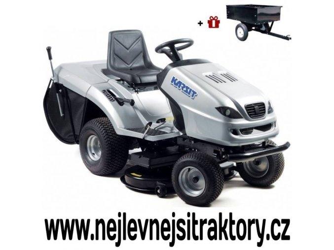 zahradní traktor karsit 20/102h maxi cut stříbrné barvy