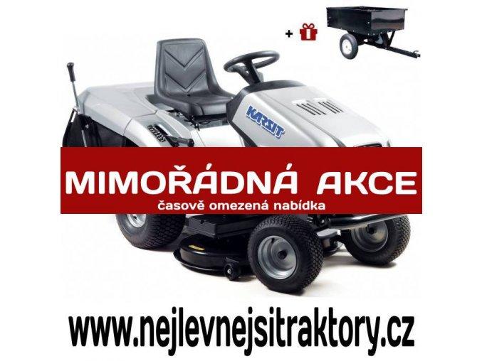 zahradní traktor karsit 22/102hx cut stříbrné barvy