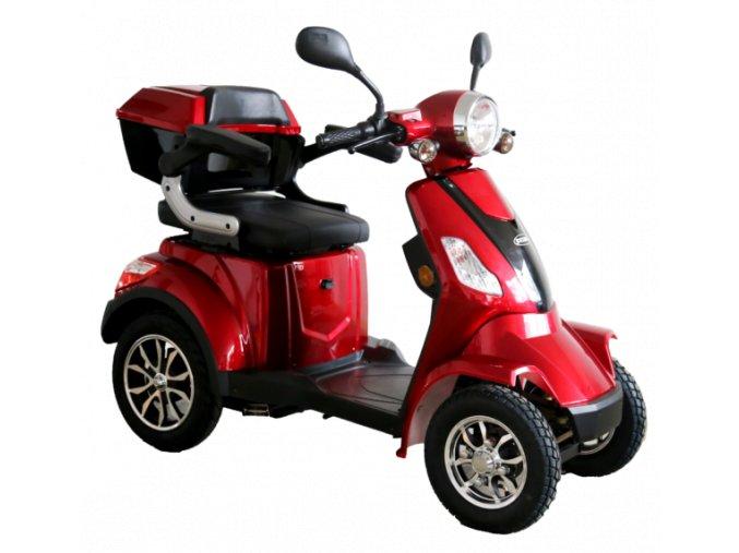 čtyřkolový invalidní vozík selvo 41000 červené barvy