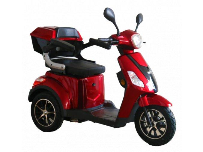 tříkolový invalidní vozík selvo 3500 ebs červené barvy