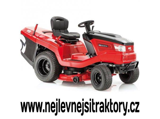 zahradní traktor al-ko t20-105,7 hd v2 červené barvy s černou kapotou a velkými koly