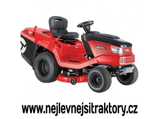 zahradní traktor al-ko t 23-125,6 hd v2 červen barvy s černou kapotou a velkými koly