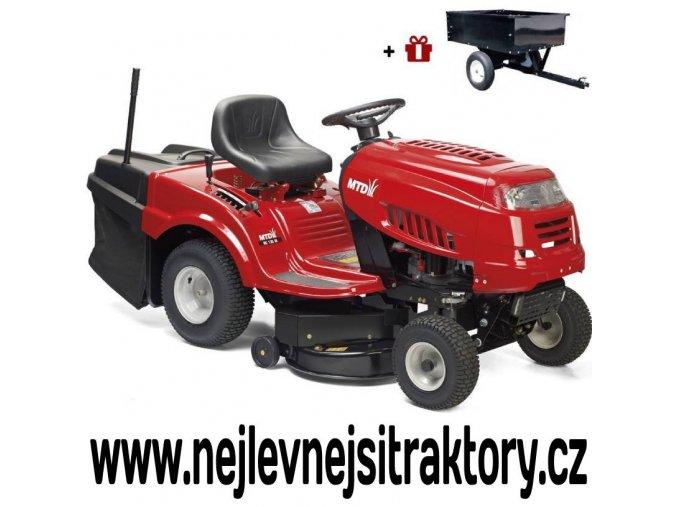 zahradní traktor mtd smart re 125 červené barvy