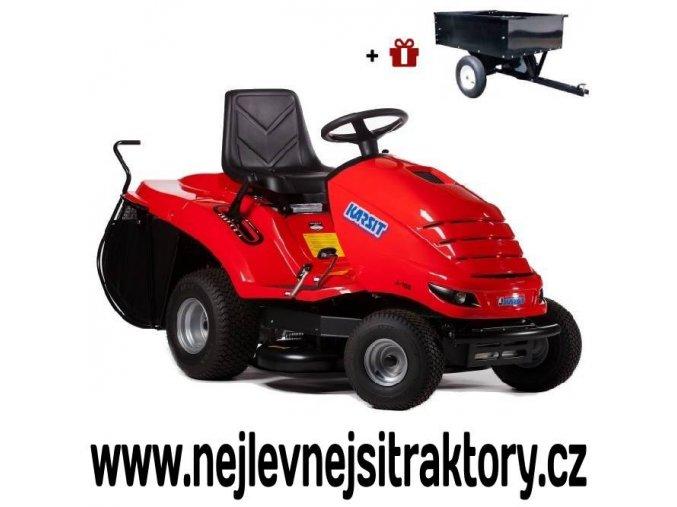 zahradní traktor karsit 15/92h maxi cut červené barvy