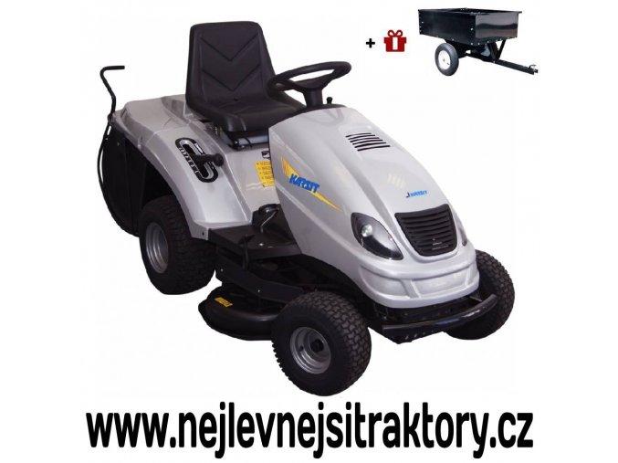 zahradní traktor karsit 15/92h maxi cut stříbrné barvy