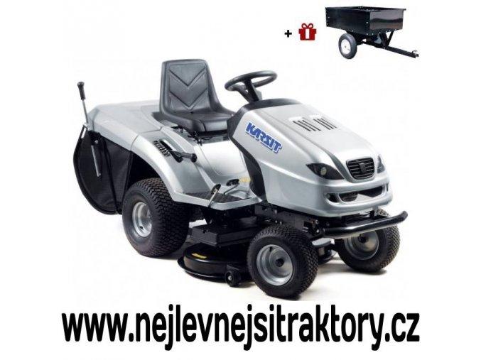 zahradní traktor karsit 17/102h stříbrné barvy