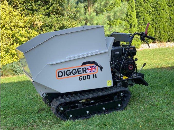 dumper, dempr, dampr, motorové kolečko, motucko, pasovy prepravnik Digger D 600 H