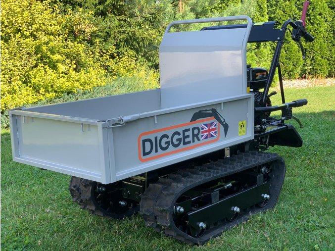 dumper, dempr, dampr, motorové kolečko, motucko, pasovy prepravnik Digger D 400 C