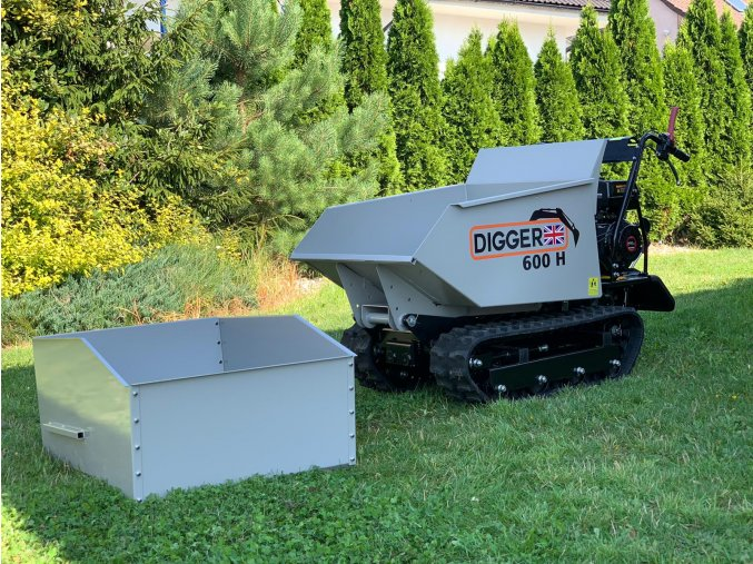 bocnice pro dumper, dempr, dampr, motorové kolečko, motucko, pasovy prepravnik Digger D 600 H