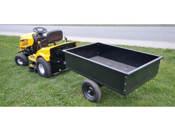 prives privesny vozik gopart dvoukolovy za zahradni traktor ctyrkolku nosnost 225 kg