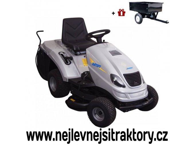 zahradní traktor karsit 13/92h maxi cut stříbrné barvy