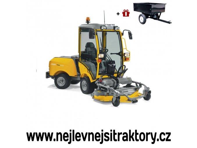 zahradní traktor stiga titan 740 dcr s předním sečením a kabinou pro řidiče