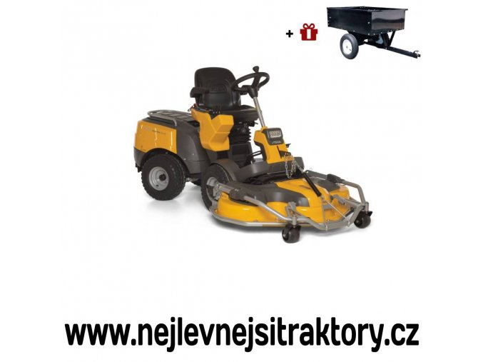 zahradní traktor, rider stiga park pro 740 iox žluté barvy s předním sečením