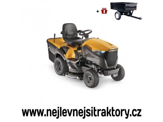zahradní traktor stiga estate pro 9102 xws žluté barvy s velkými koly