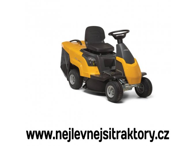 zahradní traktor, rider stiga combi 1066 h žluté barvy s menšími koly