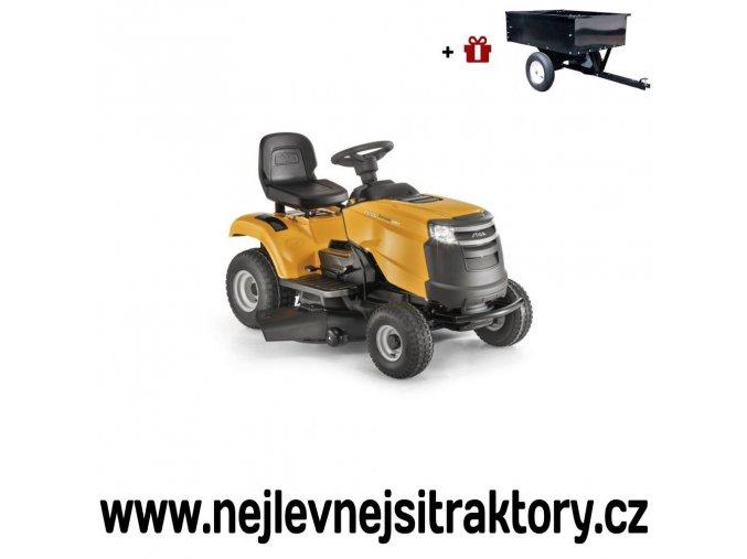 zahradní traktor stiga tornado 2198 h žluté barvy
