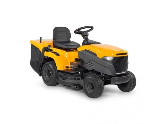 zahradní traktor stiga estate 3084 h žluté barvy s velkými koly verzve 2020
