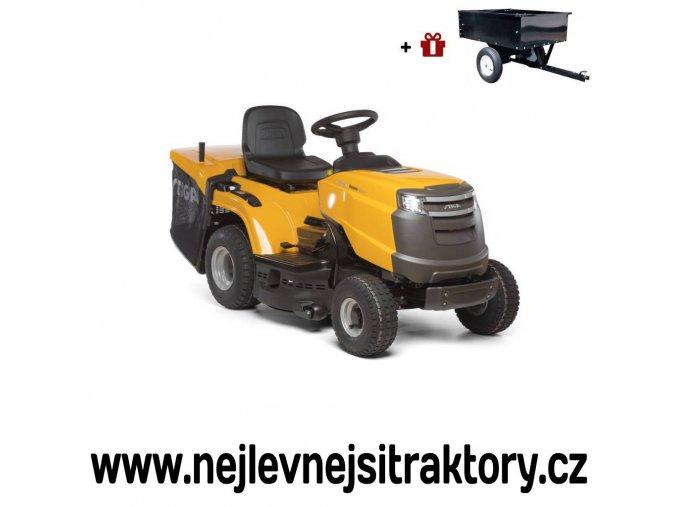 zahradní traktor stiga estate 3084 h žluté barvy s velkými koly