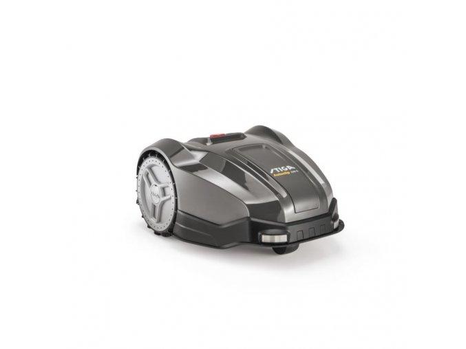 robotická sekačka stiga autclip 230 s tmavé barvy