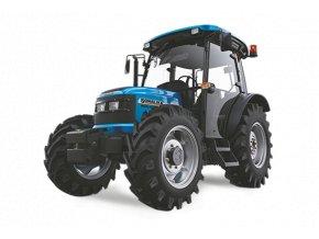 zemědělský traktor solis wt 60 modré barvy s kabinou pro řidiče