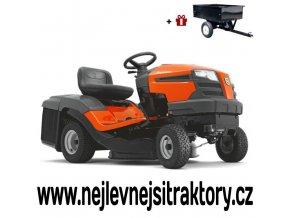 zahradní traktor husqvarna tc 130 oranžovo-černé barvy
