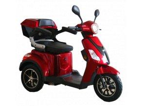 tříkolový invalidní vozík selvo 3500 eb červené barvy