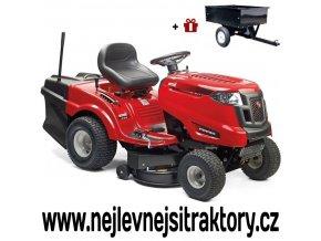 zahradní traktor mtd le 180/92h červené barvy s velkými koly