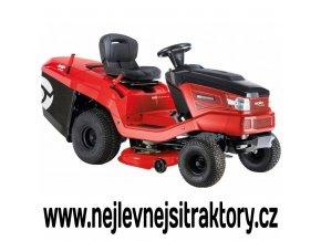 zahradní traktor al-ko t 15-95,6 hd-a červené barvy s černou kapotou a velkými koly