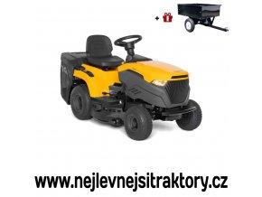 zahradní traktor stiga estate 2084 h žluté barvy s velkými koly