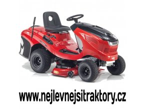 zahradní traktor al ko t 22 103,8 hd a v2 černo červené barvy s velkými koly