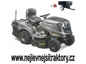 zahradní traktor mtd h 92 hb stříbrné barvy s velkými koly