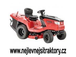 zahradní traktor al-ko t20-105,6 hd v2 červené barvy s černou kapotou a velkými koly