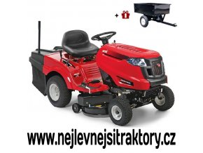 zahradní traktor mtd smart re 130h červené barvy