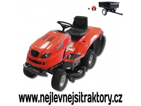 zahradní traktor karsit 17/102h redfun cut stříbrné barvy